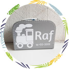 koffertje met naam: trein