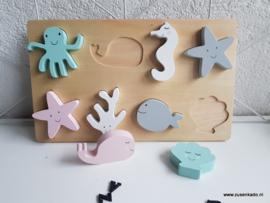 Jollein  houten puzzel zeedieren