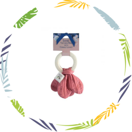 Tikiri bijtring - fuchsia roze knoop