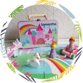 Unicorn koffertje met naam