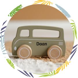 Little Dutch Speelgoed auto Bus olijfgroen