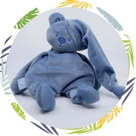nattou lapidou knuffelbeer donkerblauw met naam