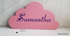 roze wolk geboortebord