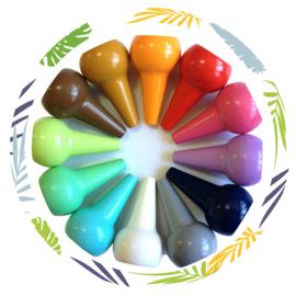 12 stapelbare waskrijtjes -pastelkleuren