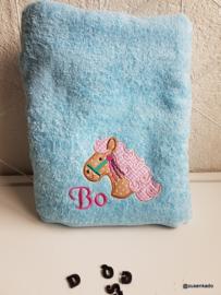 Handdoek met naam: Paard