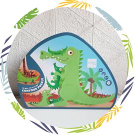 Contour Puzzel   krokodil