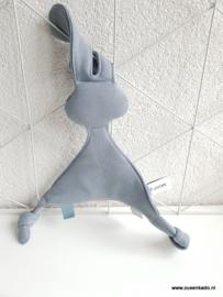 Tutpop konijn snoes groot grijs blauw