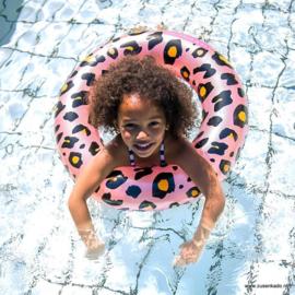 zwemband roze Panterprint