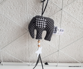 olifant hanger zwart - wit