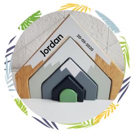 Tender Leaf Toys Houten  bergpas met naam