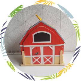 Tender Leaf Toys Houten draagbare boerderij