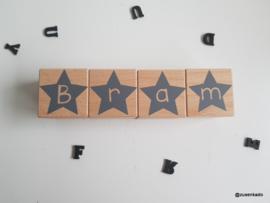 Letter blokken jongen ster