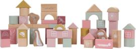 Little Dutch houten blokken in ton - roze