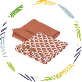 Little Dutch swaddle sunrise rust -roestkleur