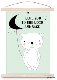 Poster beer - I love you to the moon