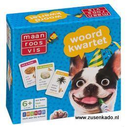 Maan Roos Vis woord kwartet