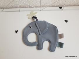 Tutpop  olifant ollie grijs blauw