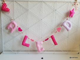 Naamslinger roze tinten