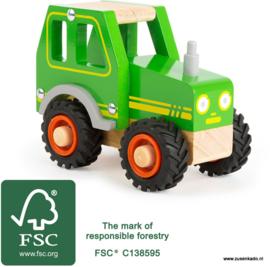 Tractor hout  met naam