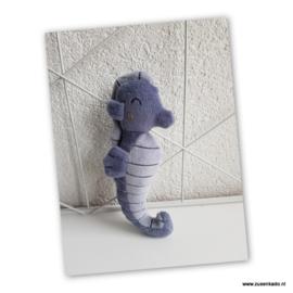 Little Dutch rammelaar zeepaardje blauw