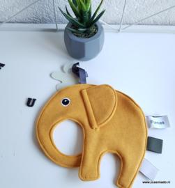 Tutpop  olifant ollie okergeel
