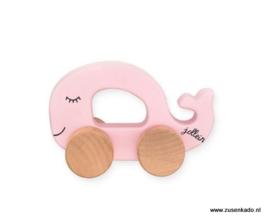 Jollein Speelgoed auto  walvis roze