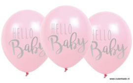 Ballonnen - Hello Baby roze