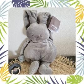 nattou lapidou knuffel  grijs met naam