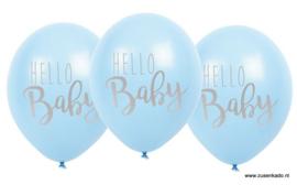 Ballonnen - Hello Baby blauw