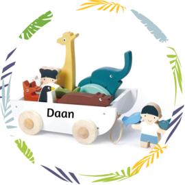 Tender Leaf Toys Houten  boot met dieren
