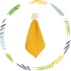 Tikiri knuffeldoekje - geel - giraf