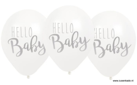 Ballonnen - Hello Baby wit