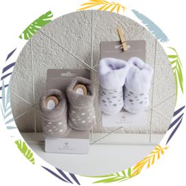 BamBam babysokjes  0-3 maanden grijs