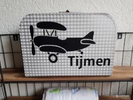 koffertje met naam: vliegtuig