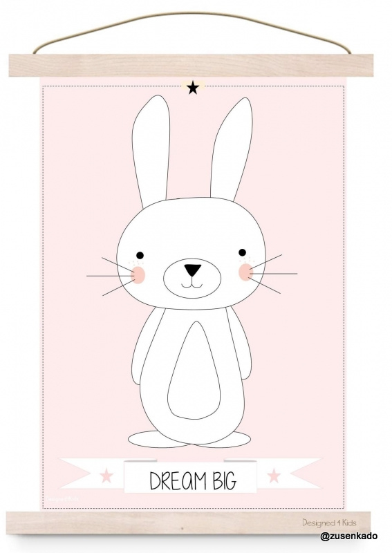 Poster konijn - dream big