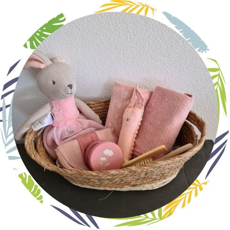 kraamcadeau pakket roze  met naam