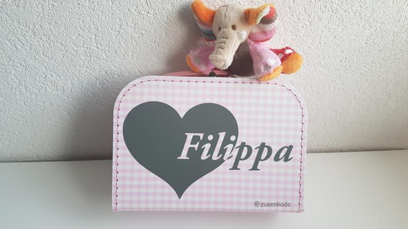 koffertje met naam: hart