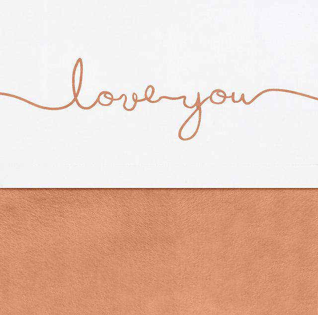 Jollein wieglaken Love you  caramel