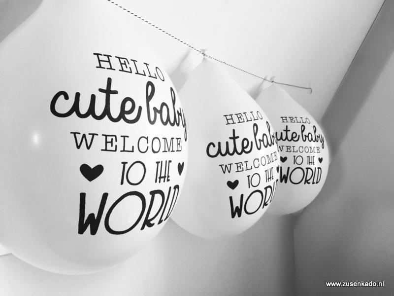 Ballonnen - Hello Cute Baby Welcome To The World