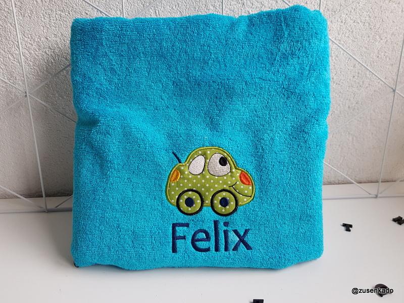 Handdoek met naam : Auto