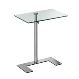 Laptop bijzet/ design tafel  For U Lourens Fisher transparant glas rvs
