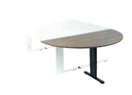 Aanbouwtafel NPO Classic halfrond 160x80cm