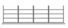 Flexstore kast inrichting open laden 23 cm 4 rijen (Binnenmaat kast: 942-1142mm)