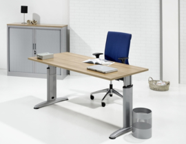 Bureau Work, T poot, hoogte instelbaar 62-85 cm