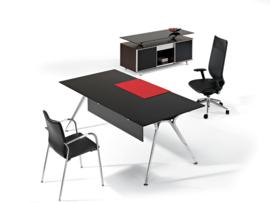 Glazen bureau Design tafel 180x80 cm, Arkitek