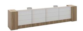 Receptiebalie ENTERPRISE XL in halifax eiken 488cm