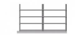 Flexstore kast inrichting open laden 23 cm 2 rijen (Binnenmaat kast: 478-678mm)