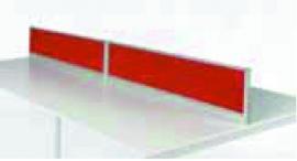 Scheidingswand NPO opzetwand model 46 x160cm zwart