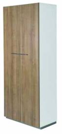 NPO houten tweedeurskast 5 OH  afm 196x80x44cm
