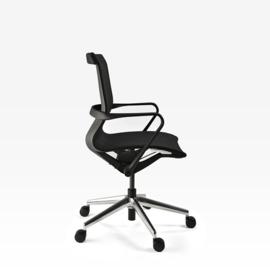 Bureaustoel Luxe Prestige 002 lage rug volledig netbespanning